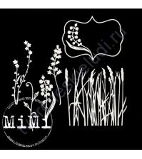 Чипборд Набор Камыши, коллекция Природа, 10х15 см