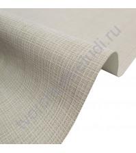 Кожзам переплетный с тиснением под холст на полиуретановой основе плотность 230 гр/м2, 50х70 см, цвет F336-серо-бежевый