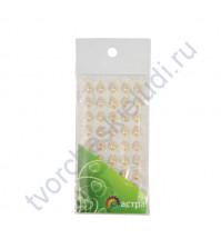 Полужемчужинки клеевые Капли 6х10 мм, 45 шт, цвет персиковый