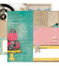 Бумага для скрапбукинга двусторонняя коллекция Birthday Wishes, 30.5х30.5 см, 190 гр/м, лист RSVP