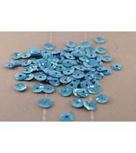 Пайетки круглые с эффектом голографик 6 мм, 10 гр, цвет бирюзовый