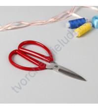 Ножницы антискользящие с красными ручками, 15.2 см