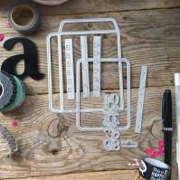 Набор ножей для вырубки и тиснения Самое важное II, 8 элементов