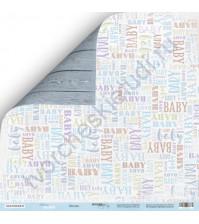 Бумага для скрапбукинга двусторонняя 30.5х30.5 см, 190 гр/м, коллекция Mommy's Hero, лист Малыш