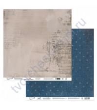 Бумага для скрапбукинга двусторонняя Наша история, 190 гр/м2, 30.5х30.5 см, лист 2