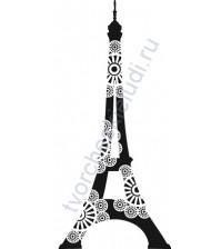 Штамп из резины на деревянной оснастке Эйфелева башня