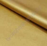 Кожзам с фактурой на тканевой основе плотность 360 гр/м2, 35х50 см, цвет золото