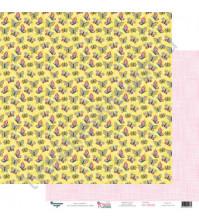 Бумага для скрапбукинга двусторонняя 30.5х30.5 см, 190 гр/м2, коллекция Красна девица, лист Солнечное настроение