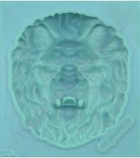 Форма силиконовая (молд) для полимерной глины, Голова льва, 50х55 мм