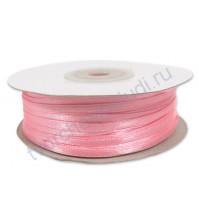 Лента атласная шир. 3 мм, цвет розовый, 1 м