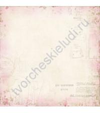 Бумага для скрапбукинга односторонняя 30х30 см Очарование, лист 10