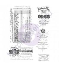 Набор резиновых штампов Old Paper Work, размер набора 15.2х17.8 см