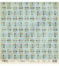 Бумага для скрапбукинга односторонняя Школьная пора, 30.5х30.5 см, 190 гр/м, лист Рисование