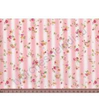 Ткань для лоскутного шитья Мелкие цветы и полосы, 50х55 см