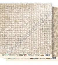 Лист бумаги для скрапбукинга Теплый свитер ,коллекция Крафтовая Зима,30 на 30 см, плотность 190 гр