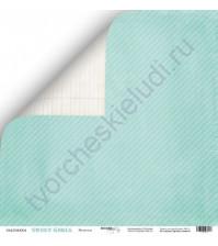 Бумага для скрапбукинга односторонняя 30.5х30.5 см, 190 гр/м, коллекция Sweet Girl, лист Модница