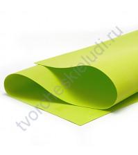 Фоамиран 1 мм, формат 25х25 см, цвет салатовый
