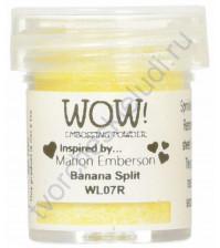 Пудра для эмбоссинга WOW!, 15 мл, цвет Желтый банан (Opaque Banana Split)
