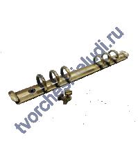Кольцевой механизм на 6 колец c 2-мя винтами, 16 мм, формат А5, цвет бронза