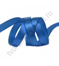 Лента атласная 25 мм, цвет синий-095, 1 метр