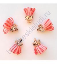 Декоративная кисточка из искусственной замши, длина кисточки 2.5 см, 1 шт, цвет розовый