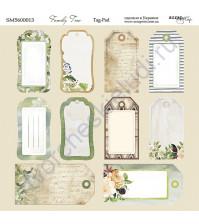Бумага для скрапбукинга, коллекция Family Tree,  20х20 см, 190 гр\м2, лист Tag-Pad