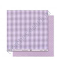Бумага для скрапбукинга двусторонняя Базовая 30.5х30.5 см, 180 гр/м2, лист Сиреневый