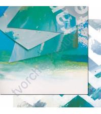 Бумага для скрапбукинга двусторонняя, коллекция Фрагменты, 30.3х30.3 см, 200 гр/м, лист 008