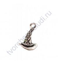 Подвеска металлическая Ведьмина шляпа 9х16мм, цвет серебро