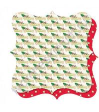 Бумага для скрапбукинга двусторонняя, коллекция Royal Christmas, 30х30 см 190 гр/м, лист Royal Christmas