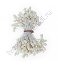 Тычинки двусторонние 5 мм, 85 шт, цвет белый