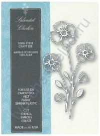 Нож для вырубки и тиснения Splendid Clarkia, 6.4x12 см