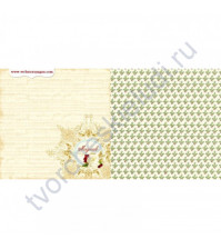 Бумага для скрапбукинга двусторонняя, коллекция A Christmas Story, 30х30 см 190 гр/м, лист Magical Day
