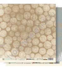 Лист бумаги для скрапбукинга Морозные узоры ,коллекция Крафтовая Зима,30 на 30 см, плотность 190 гр
