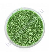 Декоративный топинг (микробисер), размер 0.6-0.8 мм, цвет св. зеленый