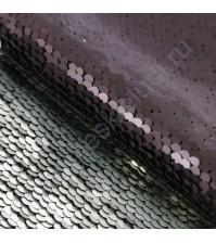 Декоративный материал Перевертыш из пайеток, плотность 420 гр/м2, размер 33х33 см, цвет черно-белый