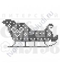 ФП печать (штамп) Саночки мал., 6х3 см