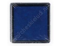Штемпельная подушечка на водной основе 25х25 мм, цвет синий