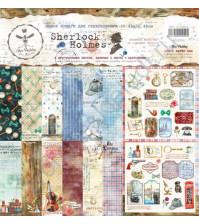 Набор двусторонней бумаги для скрапбукинга Sherlock Holmes, 30.48х30.48 см, 190 гр/м, в наборе 8 двусторонних листов + лист бонус (оборот обложки)