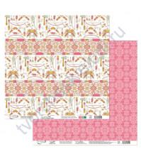 Бумага для скрапбукинга двусторонняя коллекция Ловец снов, 30.5х30.5 см, 190 гр/м, лист 6