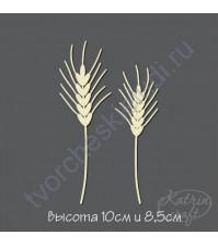 Чипборд Колоски ржаные 2 шт, высота 10 и 8.5 см