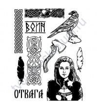 Набор штампов Отвага, коллекция Викинги, 10 элементов