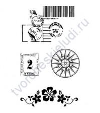 Набор штампов Icons Great Escape, 4 элемента, размер набора 7х11 см