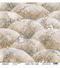 Бумага для скрапбукинга односторонняя, коллекция Маша и медведь, 30.5х30.5 см, 190 гр\м2, лист Сопки