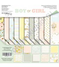 Набор бумаги Boy or Girl, 30.5х30.5 см, 190 гр/м, 11 листов