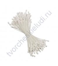 Тычинки двусторонние матовые 1.5 мм, 85 шт, цвет белый