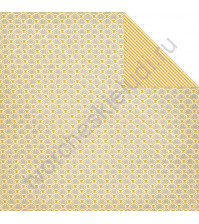 Бумага для скрапбукинга двусторонняя коллекция Lost and Found 3, 30.5х30.5 см, 190 гр/м, лист Lace Fan