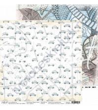 Бумага для скрапбукинга двусторонняя 30.5х30.5 см, 190 гр/м, коллекция Вокруг света, лист Дорога