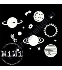 Набор чипборда Планеты, коллекция Космос, размер 7.5х10 см