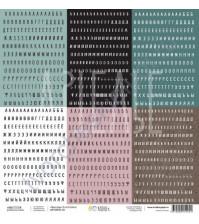 Бумага для скрапбукинга односторонняя, коллекция #Мастхэв, 30.5х30.5 см плотность 190г/м, лист Много букв
